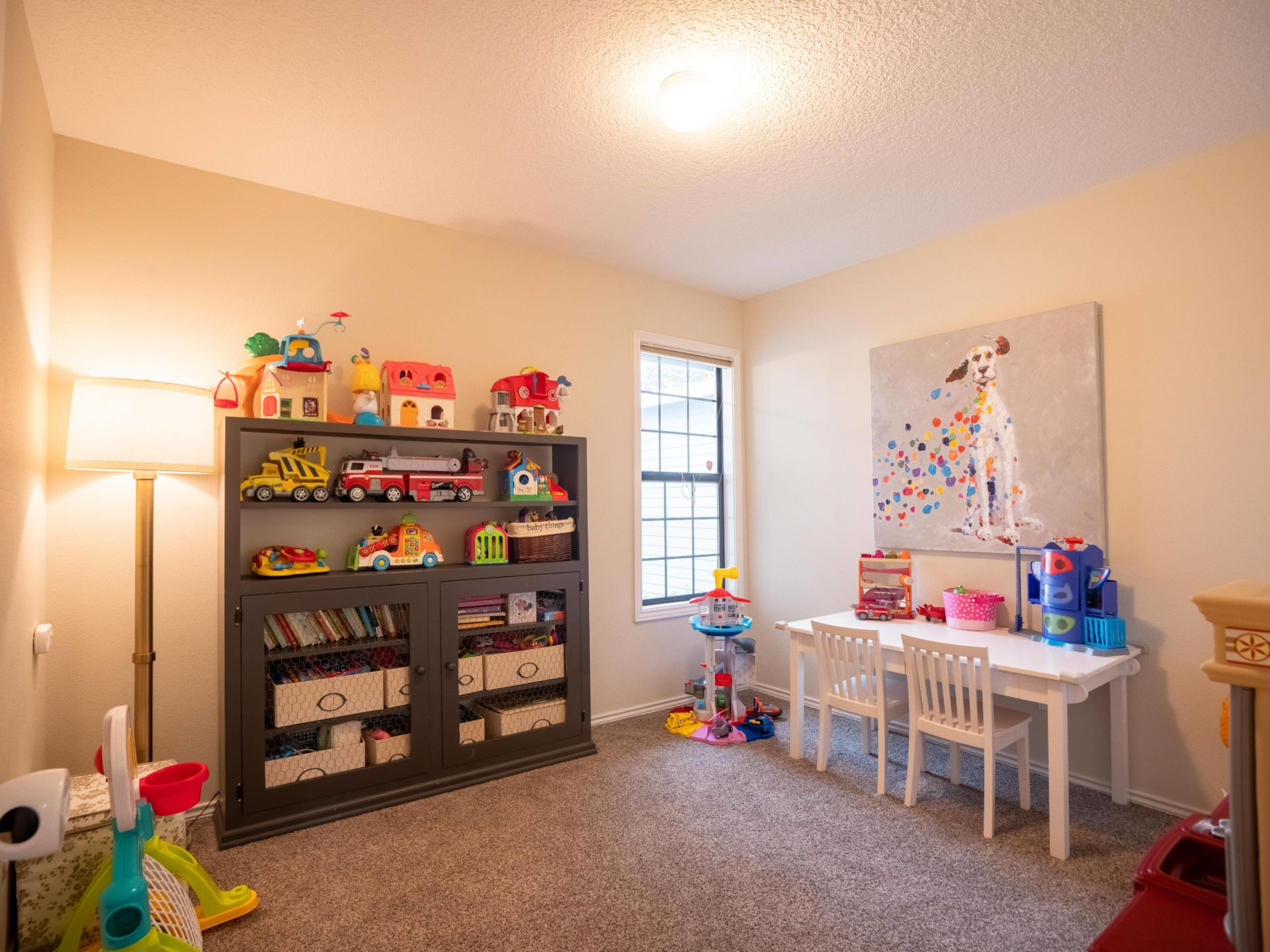 kids playroom staged to sell
